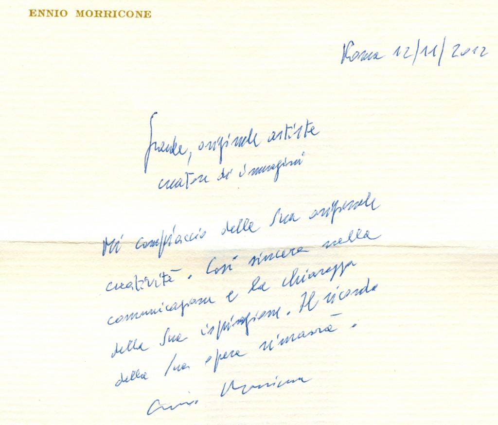 Manuscrito Ennio Morricone